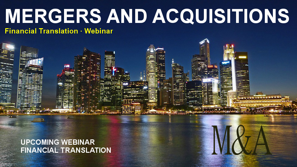 Financial translation mergers and acquisition webinar proz M&A
