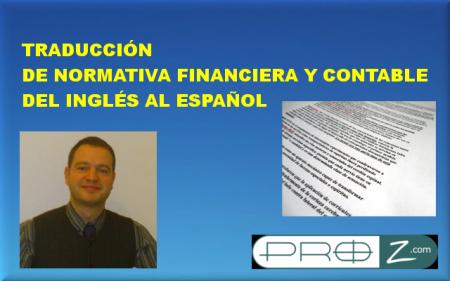 Traducción de normativa contable y financiera